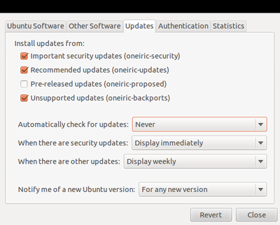 Turn Off Ubuntu Automatic Updates