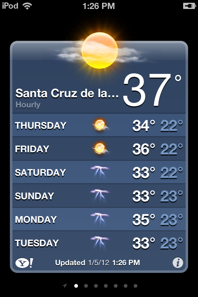 iphone weather info