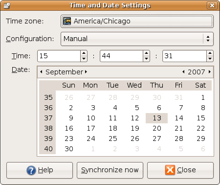 Ubuntu gnome time and date