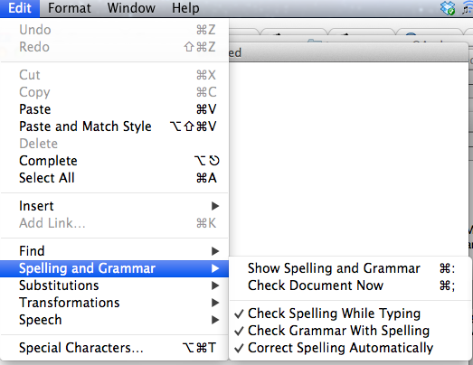textedit mac grammar checker