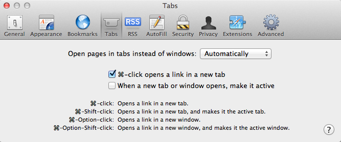 safari mac open link new tab
