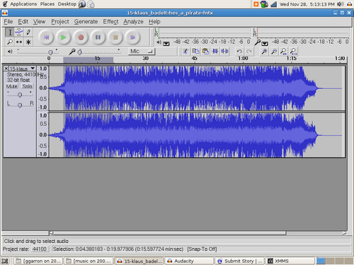 audacity mp3 editor for Linux