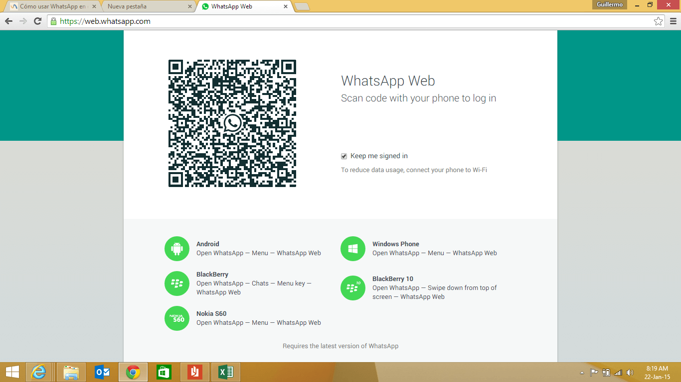 Use WhatsApp from the Web